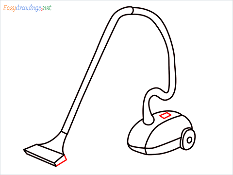 How to draw a Vacuum cleaner step (11)