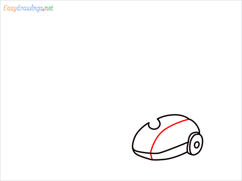 How to draw a Vacuum cleaner step (5)