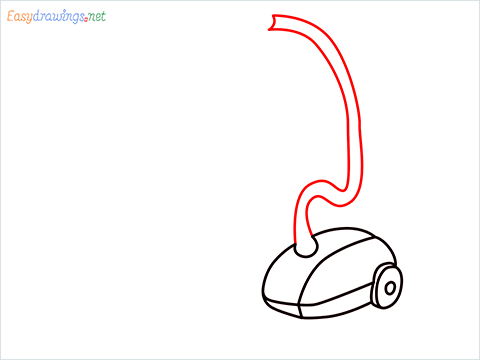 How to draw a Vacuum cleaner step (6)