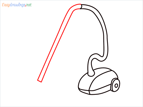How to draw a Vacuum cleaner step (7)