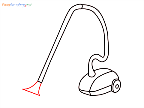 How to draw a Vacuum cleaner step (8)