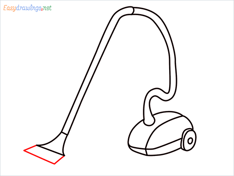 How to draw a Vacuum cleaner step (9)