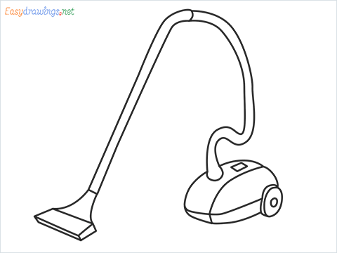How to draw a Vacuum cleaner step by step for beginners