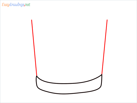 How to draw a Vodka glass step (3)