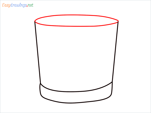 How to draw a Vodka glass step (4)