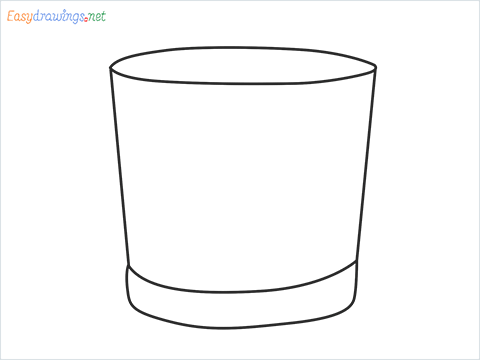 How to draw a Vodka glass step by step for beginners