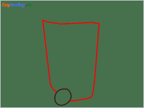 How to draw a Wheelie bin step (2)