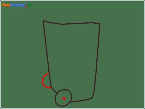 How to draw a Wheelie bin step (3)