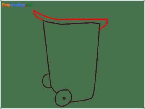 How to draw a Wheelie bin step (4)