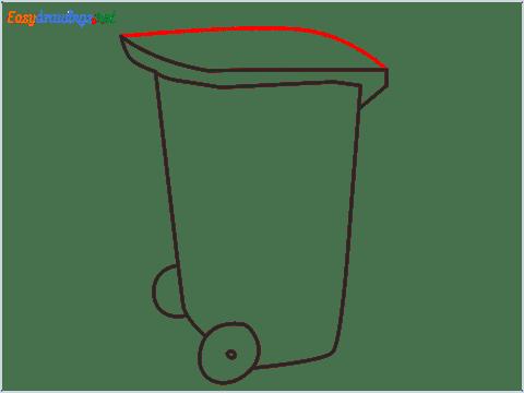How to draw a Wheelie bin step (5)