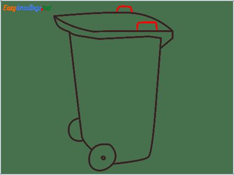 How to draw a Wheelie bin step (6)