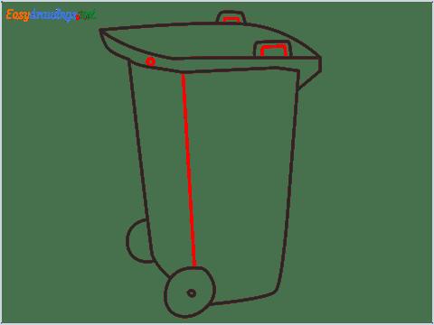How to draw a Wheelie bin step (7)
