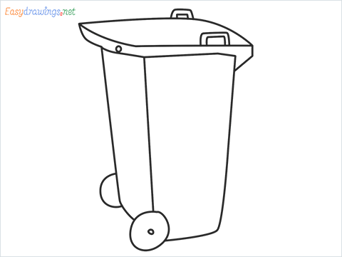 How to draw a Wheelie bin step by step for beginners