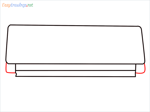 How to draw an Air Conditioner step (5)