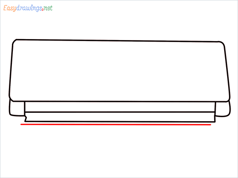 How to draw an Air Conditioner step (6)