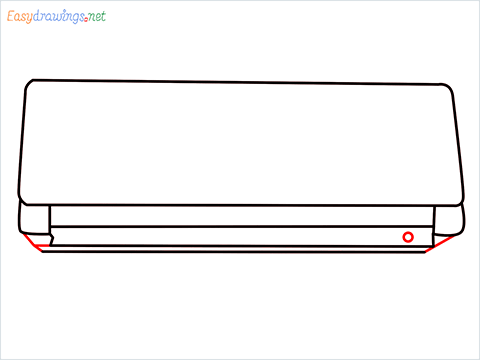 How to draw an Air Conditioner step (7)
