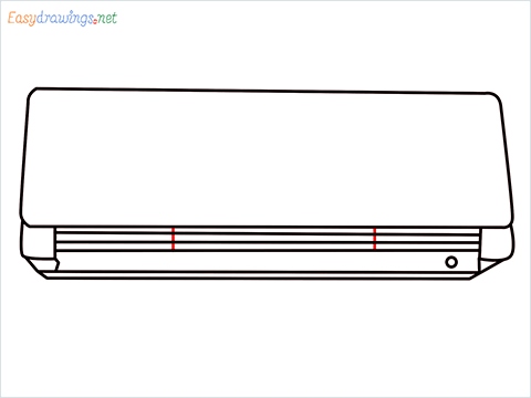 How to draw an Air Conditioner step (9)