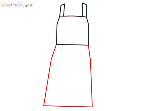 How to draw an Apron step (3)