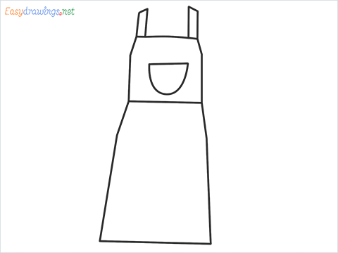 How to draw an Apron step by step for beginners