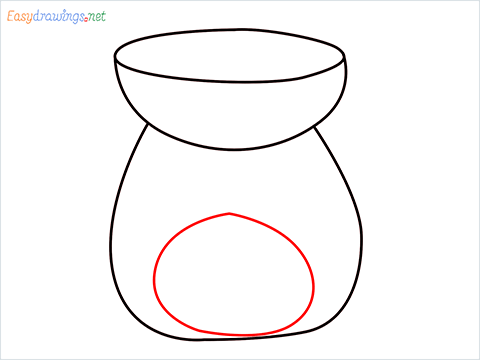 How to draw an Aroma lamp step (4)