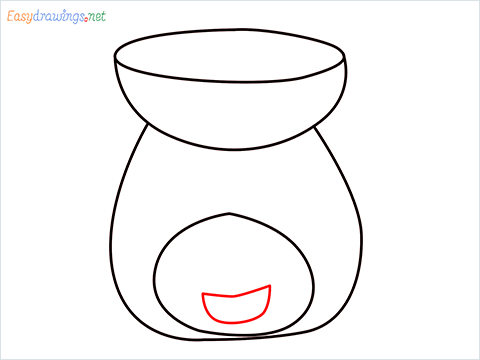 How to draw an Aroma lamp step (5)