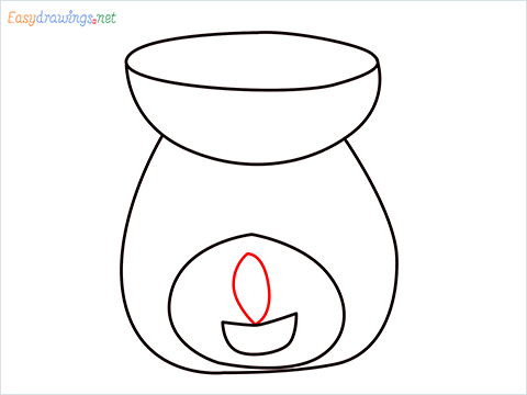 How to draw an Aroma lamp step (6)