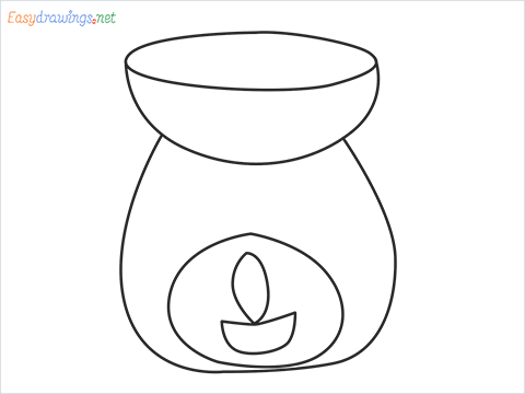 How to draw an Aroma lamp step by step for beginners