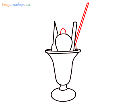 How to draw an Ice Cream step (7)