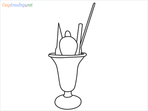 How to draw an Ice Cream step by step for beginners