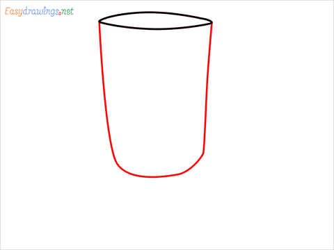How to draw an Irish coffee glass step (2)