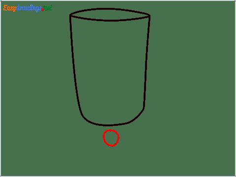 How to draw an Irish coffee glass step (3)
