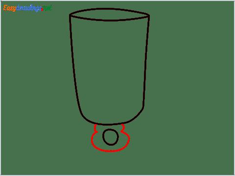 How to draw an Irish coffee glass step (4)