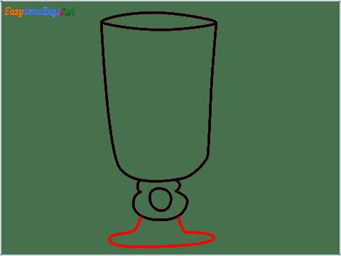 How to draw an Irish coffee glass step (5)