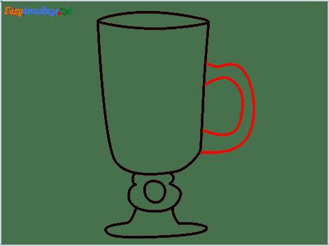 How to draw an Irish coffee glass step (6)