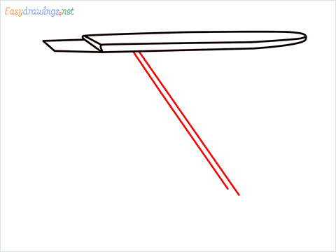 How to draw an Ironing board step (4)