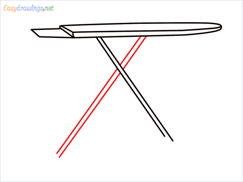 How to draw an Ironing board step (5)
