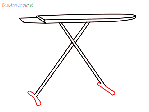How to draw an Ironing board step (6)