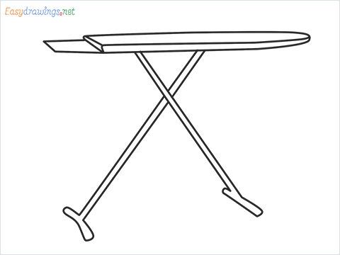 How to draw an Ironing board step by step for beginners