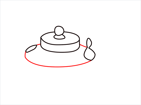 How to draw an Old Kettle step (5)