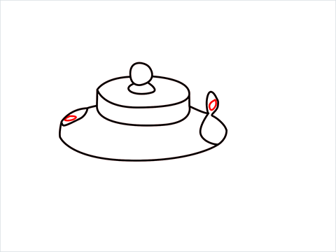 How to draw an Old Kettle step (6)