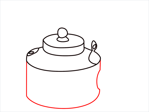 How to draw an Old Kettle step (7)