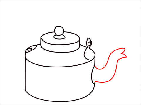 How to draw an Old Kettle step (8)