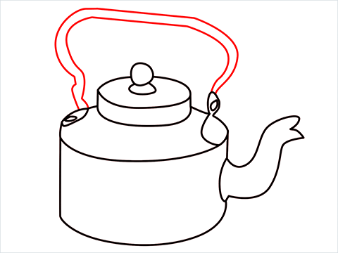 How to draw an Old Kettle step (9)