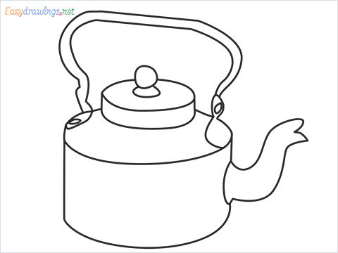 How to draw an Old Kettle step by step for beginners