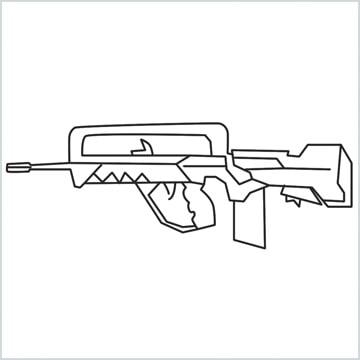 draw FAMAS Gun