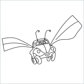 draw Flik car from disney cars