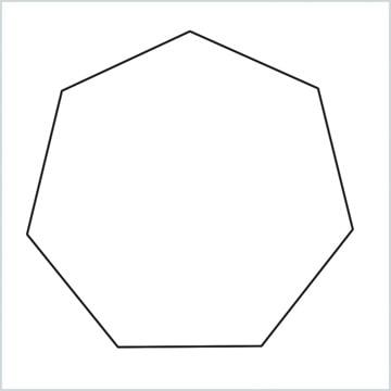 draw Heptagon shape