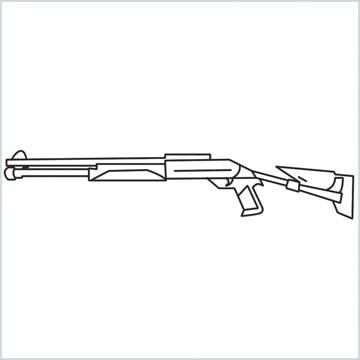 draw M1014 Gun