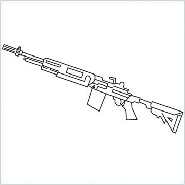 draw M14 Gun