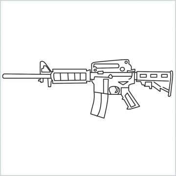 draw M4A1 Gun